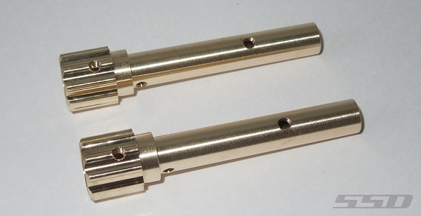 SSD D60 Axle Wide Splined Brass Tubes (1)