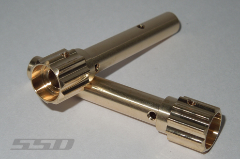 SSD D60 Axle Wide Splined Brass Tubes (2)