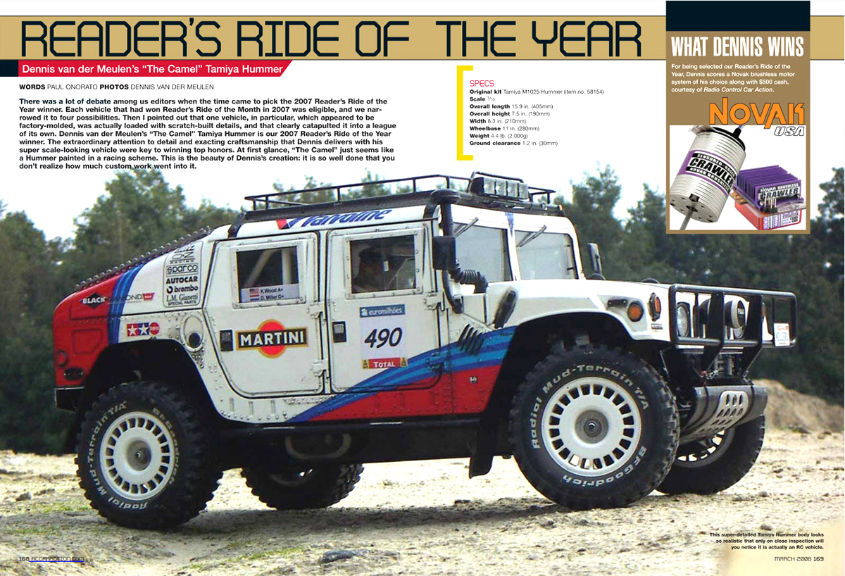 Tamiya Hummer Rally Readers Ride of the Year