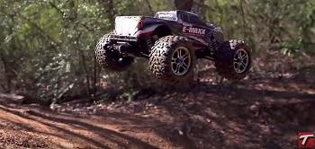 Traxxas Brushless E-Maxx Shreds A BMX Trail [VIDEO]