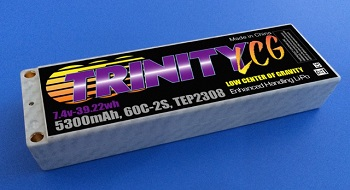 "Trinity White Carbon ""LCG"" Touring Cars LiPos"