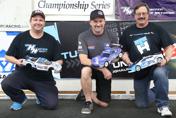 Winter 2015-2016 So Cal Scale Series Round 4 GT Sedans podium.