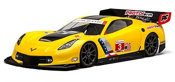 PROTOform Chevrolet Corvette C7.R Clear Body For 1:8 GT (Long Wheelbase)