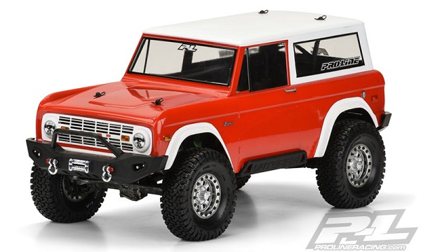 Pro Line 1973 Ford Bronco Clear Body Rc Car Action