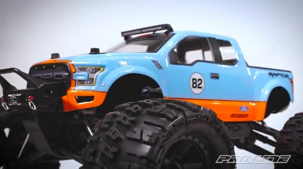 Pro-Line 2017 Ford F-150 Raptor Monster Truck Clear Body