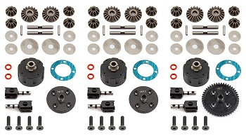 Team Associated V2 Differential Sets For The RC8B3 And RC8B3e