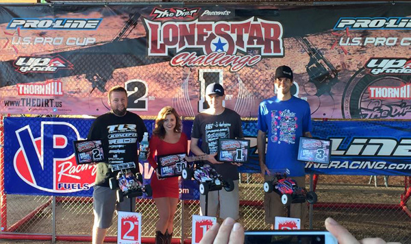 The Lonestar Challenge Pro Buggy Podium (left to right):