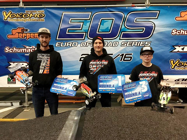 The Team Associated factory Team backed up the debut of the B6 by taking 1st Ryan Cavalieri and 3rd Joona Haatanen at the recent EOS event, Round 4 in Nurburgring, Germany.