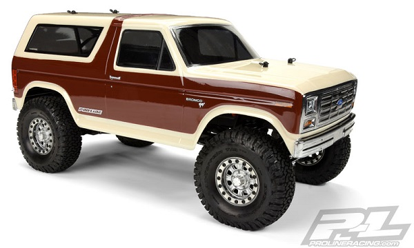 Pro-Line 1981 Ford Bronco Clear Body For 12.3 (313mm) Wheelbase Scale Crawlers (1)