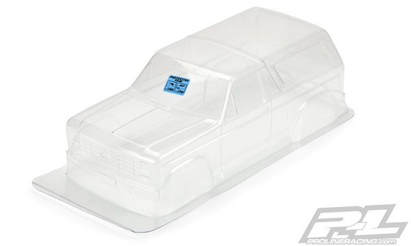 Pro-Line 1981 Ford Bronco Clear Body For 12.3 (313mm) Wheelbase Scale Crawlers (2)