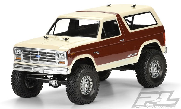Pro-Line 1981 Ford Bronco Clear Body For 12.3 (313mm) Wheelbase Scale Crawlers (3)