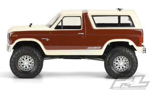 Pro-Line 1981 Ford Bronco Clear Body For 12.3 (313mm) Wheelbase Scale Crawlers (4)