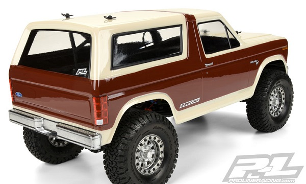 Pro-Line 1981 Ford Bronco Clear Body For 12.3 (313mm) Wheelbase Scale Crawlers (5)