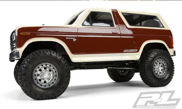 Pro-Line 1981 Ford Bronco Clear Body For 12.3 (313mm) Wheelbase Scale Crawlers (6)