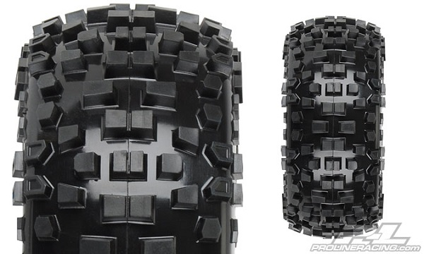 Pro-Line Badlands SC 2.23.0 Tires Mounted On Black Split Six Wheels (2)