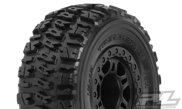 Pro-Line Trencher X SC 2.23.0 Tires Mounted On Black Split Six Wheels (1)