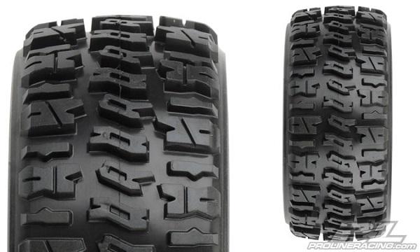 Pro-Line Trencher X SC 2.23.0 Tires Mounted On Black Split Six Wheels (2)