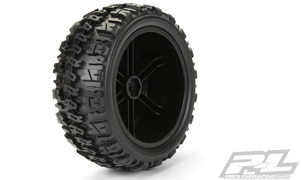 Pro-Line Trencher X SC 2.23.0 Tires Mounted On Black Split Six Wheels (3)