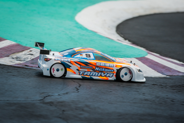 Tamiya's Christopher Krapp helped his casu by taking a win in the eighth round to move himself up in to second overall.