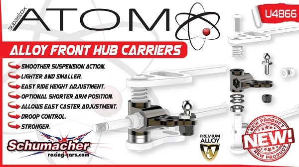Schumacher Alloy Hub Carriers For The Atom GT12 (2)