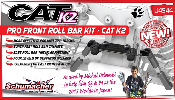 Schumacher Front Roll Bar Kit For The CAT K2 4wd Buggy (2)