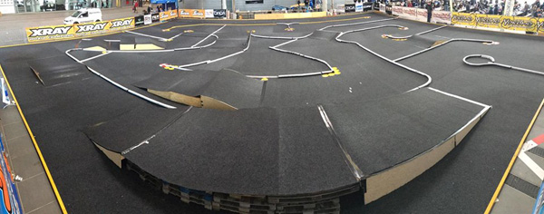 The temporary carpet track at Round 4 of the EOS Series.
