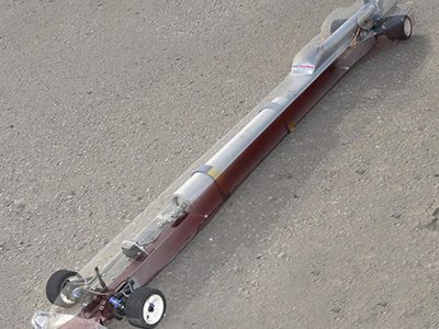 Tony Lovering Blasts RC Rocket Car to 210MPH [VIDEO]