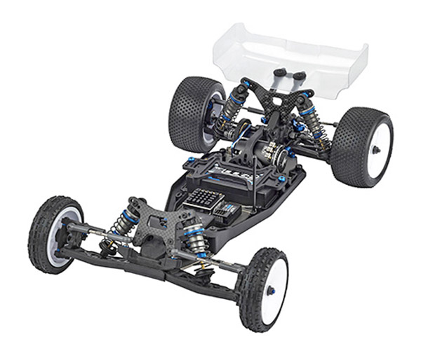 The Team Associated B6 is a dedicated laydown transmission buggy dedicated to high-bite surfaces.