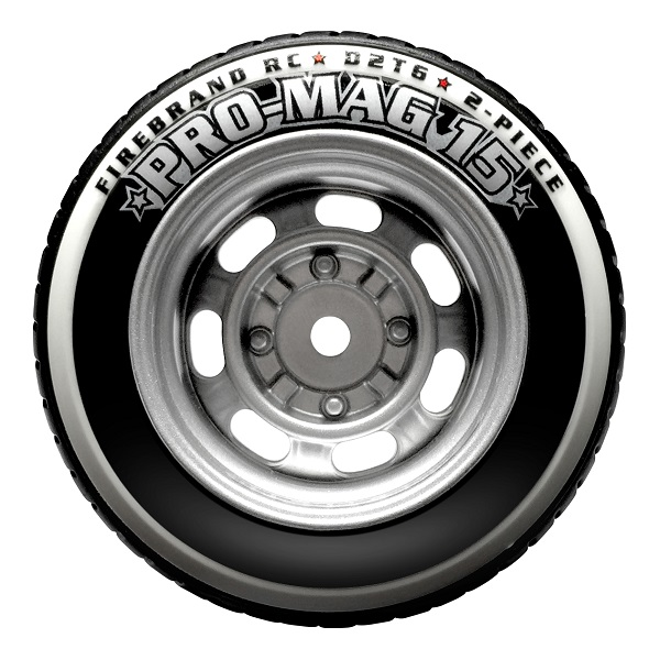FireBrand RC PRO-MAG 15–D2T6 Tires & Wheels (8)