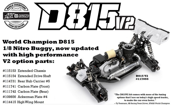 HB Racing D815 V2 1_8 Nitro Off-Road Competition Buggy (2)