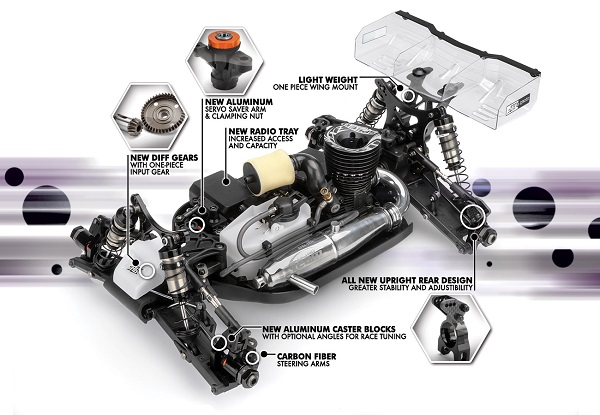 HB Racing D815 V2 1_8 Nitro Off-Road Competition Buggy (5)