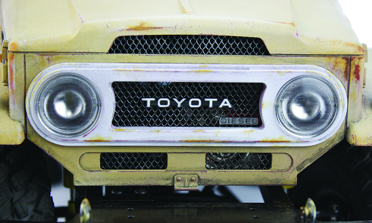 How to weather a hard body grille detail