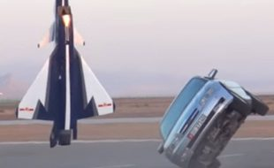 1/5 Scale RC Jet Versus Full-Size Chevy Caprice. Yes, Really. [VIDEO]