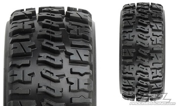 "Pro-Line Trencher X SC 2.2""/3.0"" Tires Mounted On Black Split Six Wheels"