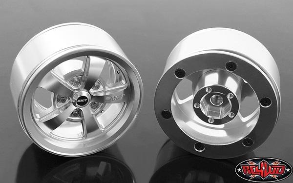 RC4WD Mickey Thompson Street Comp SC-5 1.9 Beadlock Wheels (Hyper Silver) (3)