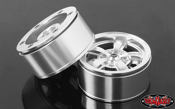 RC4WD Mickey Thompson Street Comp SC-5 1.9 Beadlock Wheels (Hyper Silver) (4)