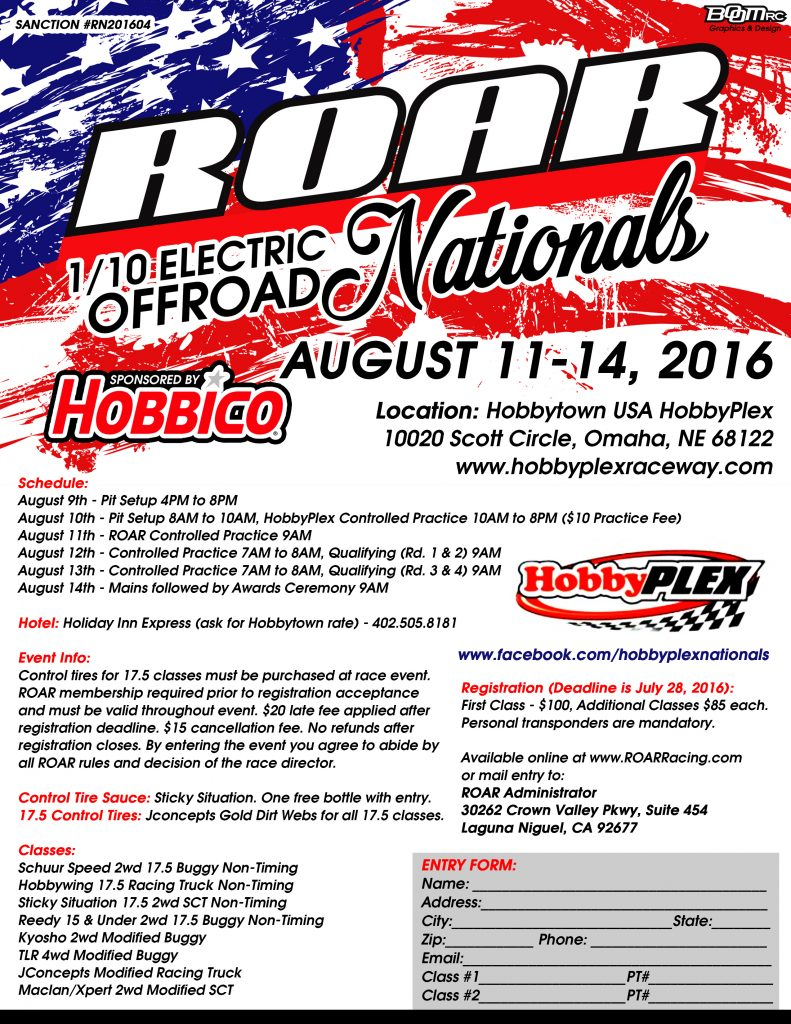 ROAR 2016 110 Electric Off-Road Nationals Registration Now Open