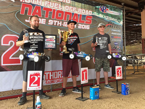 Spencer Rivkin/ Team Associated 1st, Ryan Maifield/ TLR 2nd, Ty Tessmann/ Hot Bodies 3rd.