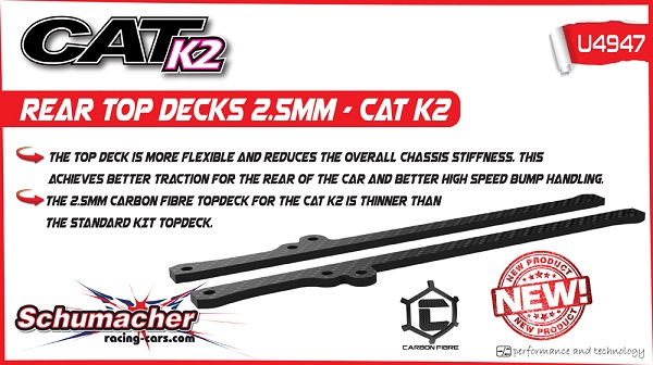 Schumacher 2.5mm Rear Top Decks For The CAT K2 (2)