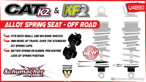 Schumacher Off-Road Alloy Spring Seat For The Cat K2 And Cougar KF2 (2)