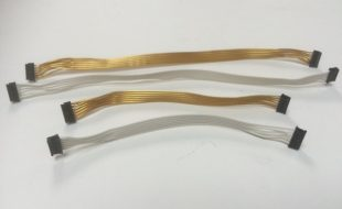Trinity 24k Gold And White Super-Flexible Ribbon Style Sensor Cables