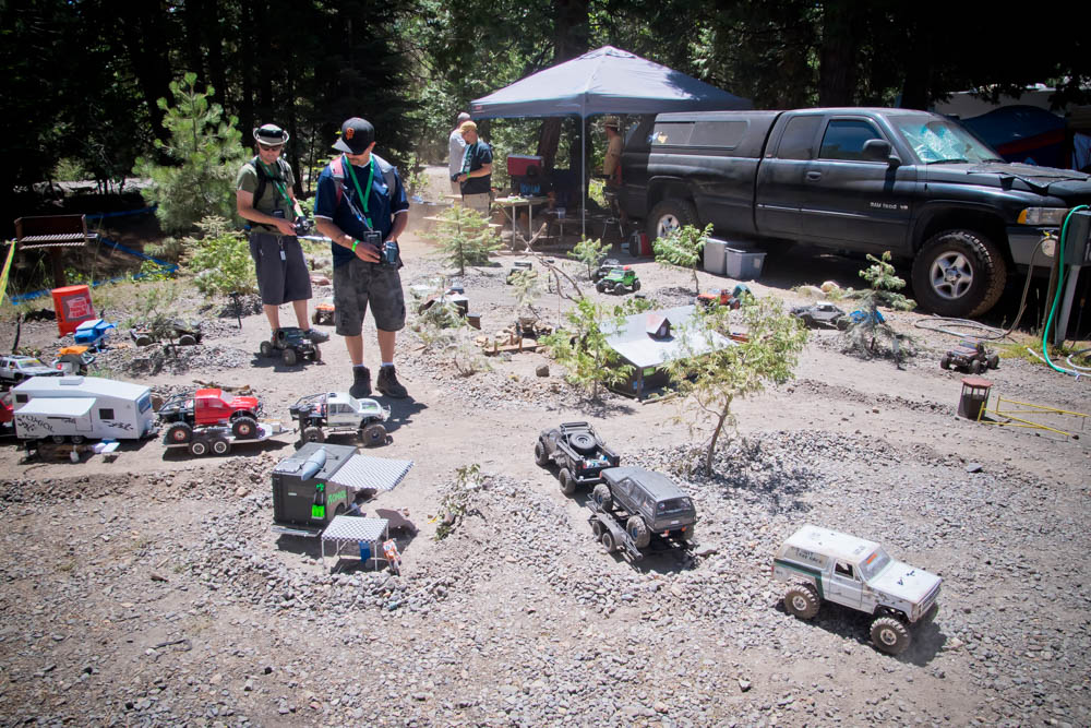 What's better than full sized camping? Scale sized camping of course. A replica of the Cisco Campgrounds was available for check in where you could park your rig and set up your campsite.