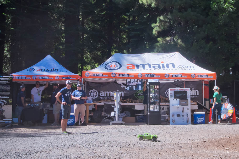 A-Main was one of the principal sponsors of Axialfest and were raffling off huge prices all weekend long.