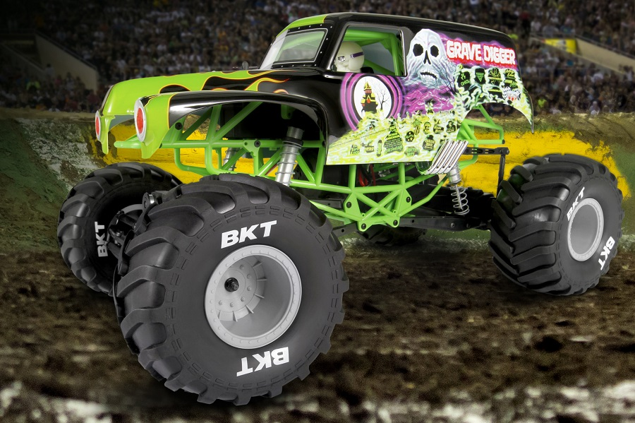 Axial RTR SMT10 Grave Digger Monster Jam Truck (1)
