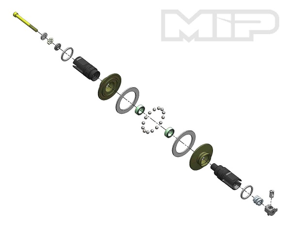 MIP Bi-Metal Diff Kit For Associated 5 & 6 Vehicles (4)