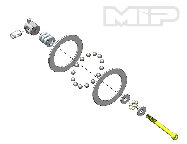 MIP Carbide Diff Ball Rebuild Kit For AE 6_5 Vehicles