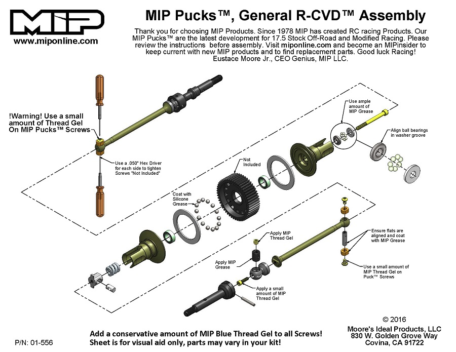 MIP Pucks 17.5 Drive System For Associated B6 & B5 (2)