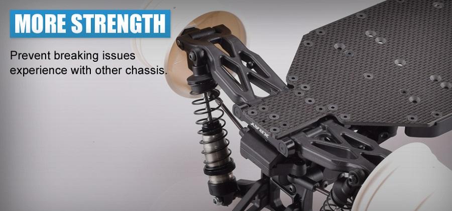 RDRP XB2 2.5mm Carbon Fiber Chassis (7)