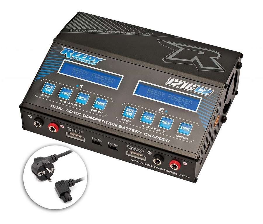 Reedy 1216-C2 Charger Now With Global Power Cords (1)