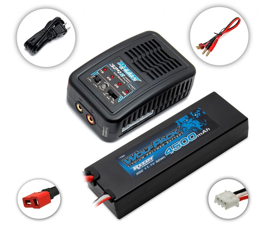 Reedy 324-S Compact Balance Charger & LiPo Combos (2)